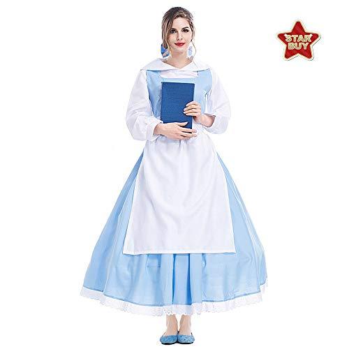 COSOER Die Schöne Und Das Biest König Cosplay Kostüm Filmfigur Kleidung Halloween Karneval Paarabnutzung,Princess2-XL (Paare Kostüm Beängstigend)