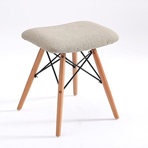 Hocker Meters Massivholz Stuhl Hause Schuh Mode Stoff Sofa Erwachsenen (Farbe : Wood Color Pigment) -