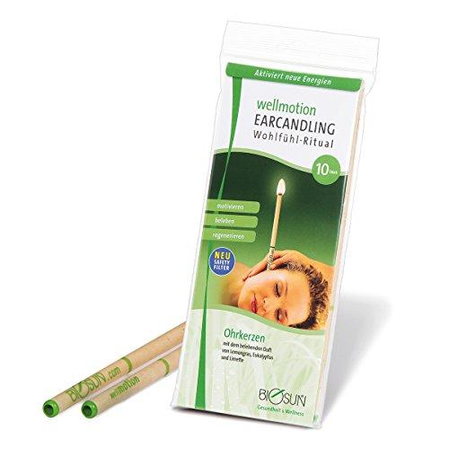 10 Stück (5 Paar) BIOSUN wellmotion Ohrkerzen/Ohrenkerzen mit Sicherheits-Filter. Belebender Duft von Lemongras, Eukalyptus und Limette preisvergleich