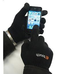 Etouch écran tactile gants pour iPhone, iPad, Blackberry et autres smartphones et Sat navs, Noir (M-L)