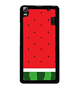 Fuson Watermelon Redish Designer Back Case Cover for Lenovo A7000 :: Lenovo A7000 Plus :: Lenovo K3 Note (Art Work Illustrations)
