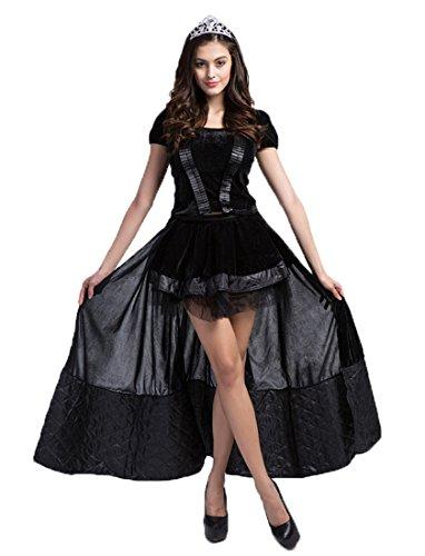 Honeystore Damen's Hexen Kostüm Zauberin Feen Damen Kostüm Halloween Kleid Outfit Karneval One Size Schwarz (Alice Im Wunderland Kostüm Ideen Für Babys)