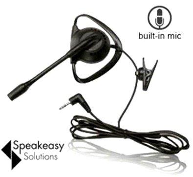 SpeakEasy In-Ear-Headset (kabelgebunden, kompatibel mit 3,5 mm und 2,5 mm Handys, iPhone, Samsung Galaxy, Android, HTC, LG, auch für schnurlose Telefone - Boom Mic Headset