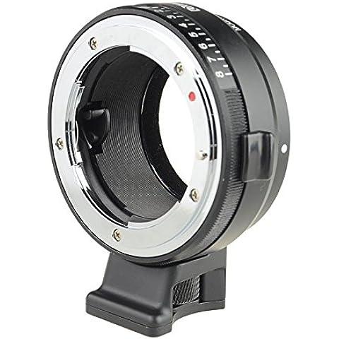 Commlite Manual Focus MF Lens Mount Aadpter with Aperture Dial for Nikon G, DX, F, AI, S, D Type Lens to Sony E-mount Nex Camera A7, A7R, NEX-3, NEX-5, NEX-5N, NEX-7, NEX-7N, NEX-C3 NEX-VG10, VG20, FS-100,