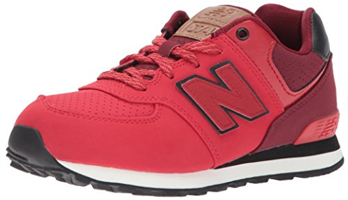 New Balance Unisex-Kinder Sneaker, Rot (Red/Black), 36 EU (3.5 UK) (Polo Ein Pique Kind)