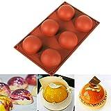 Askdasu Silikonform rund Kuchen Form Halbkugel Kuchen Form DIY Fondant Cookie Form Backwerkzeug