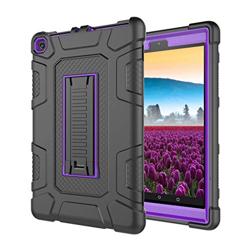 Best Kindle Zubehör !! Beisoug Für Amazon Kindle Fire HD8 2017/2018 Universal Fall Weiche Silikon Rugged Cover