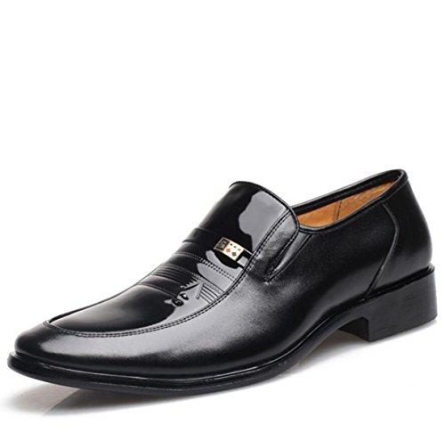 Autunno Affari Scarpe Eleganti Uomini Scarpe Singole Scarpe Basse Scarpe Da Uomo In Vernice Black