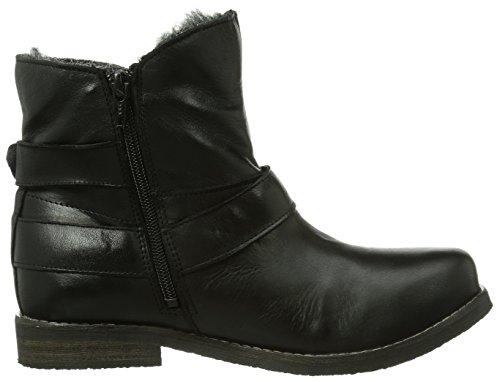 Buffalo London ES 30524 GARDA Damen Biker Boots Schwarz (PRETO 01)