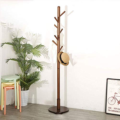 Perchero de madera piso percha dormitorio Creative Foyer salón moderno minimalista percha ropa rack (8 ganchos),Yellow