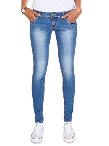 62nd Avenue Damen Skinny Jeans Used Stretch Hose blau 6200 XL / 42 - Avenue Stretch-jeans