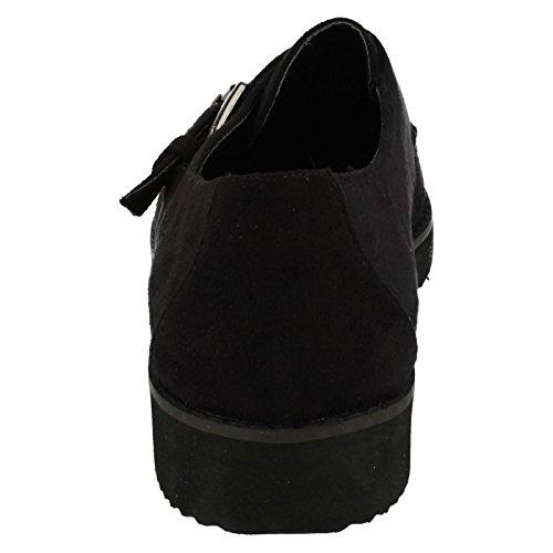 Spot On , Sandales Compensées femme Noir - noir