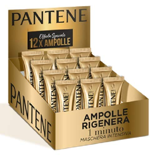 Pantene Pro-V Wonder Ampoules, Trattamento Intensivo 1 Minuto per Capelli Danneggiati, 12 x Ampolle da 15 ml