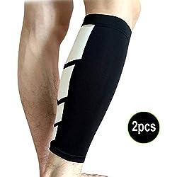 Hrph Calcetín transpirable de la pierna del baloncesto de la manera de 2 PC protege las bicis que se divierten del fútbol que fuma de la rodilla que sube calcetines de los deportes