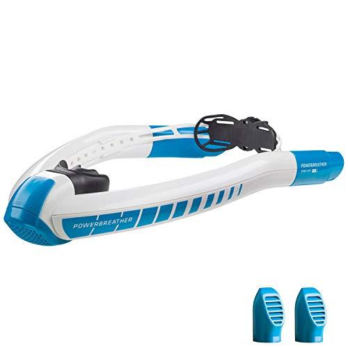 POWERBREATHER AMEO LAP - l'innovation du tuba de natation - 100% d'air frais, pas de respiration pendulaire grâce à la technologie de valve brevetée