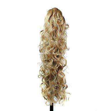 Perruque & xzl Perruques Fashion extension de cheveux synthétiques de clip griffe 30 pouces de long bouclés queue de cheval