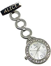 Personalised Engraved Nurse Watch Diamante Fob Carer Graduation Mothers Day Gift Custom Name Gift for Her