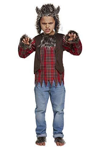 (Werwolf Jungen Kostüm Halloween Unheimlich Gruselig Animal Kinder Kostüm Neue - Medium Ages 7 -9 Years)