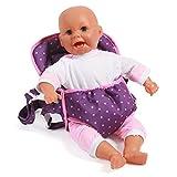 Bayer Chic 2000 782 40 - Puppen-Tragegurt Dots, lila/rosa