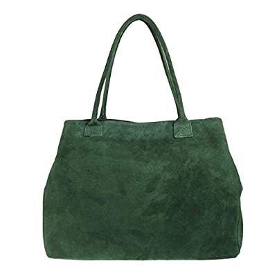 Craze London Womens Girls Handbags Open Top Real Italian Suede Leather Shoulder Bag