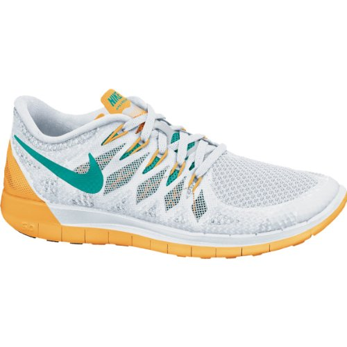 NIKE WMNS FREE 5.0 RUNNING (White/Orange, 38.5)