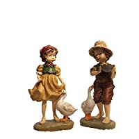 YuLinStyle Resin Crafts Creative Characters Home Room Decorations American Country Garden Garden Animal Decoration Home accessories Wine shelf