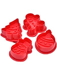 4 UNIDS/Set Lindo 3D Árbol de Navidad Muñeco de Nieve Fondant Biscuit Molde de