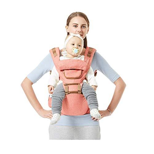 Porte-bébé Multifonction Tabouret épaules et Taille pour bébé Banc Respirant des Quatre Saisons, Design de fenêtre de Poche ( Color : A )