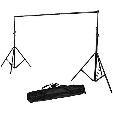 2.8 x 3m 35mm Sistema de Soporte para Fondo de Estudio Fotográfia fotográfico vídeo de Foto y