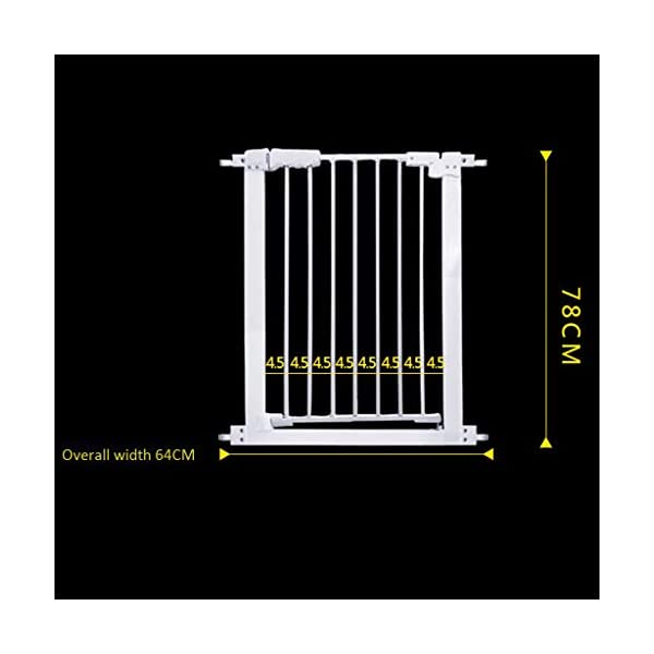 Metal Fireplace Fence Pet Playpen/Safety Gate/Safety Barrier/Stove & Fire Guard/Room Divider (Color : Height 78cm, Size : Panel 1+7) Huo ● pet playpen materials: strict selection of standard safety materials ABS plastic +Seamless steel pipe + environmental protection paint ●Automatic rebound: automatic rebound when less than 90°, normally open when greater than or equal to 90°,Open door size increased to 44cm for Easy access ● Scalable and ideal private space: The size of each piece of iron net is 64 x 78 cm. Our fence for pets allows the free installation and adaptation of the right room to your needs. It can be the private room of a pet, a playground or a delivery room to soothe the care. 2