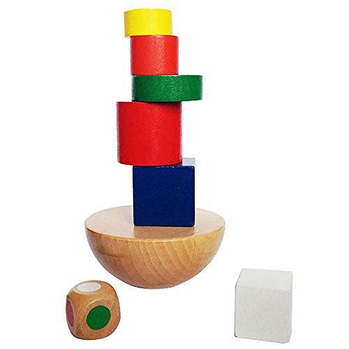 Balancieren Hemisphere Stapeln Spiel Holz-Spielzeug für Babys Kleinkinder