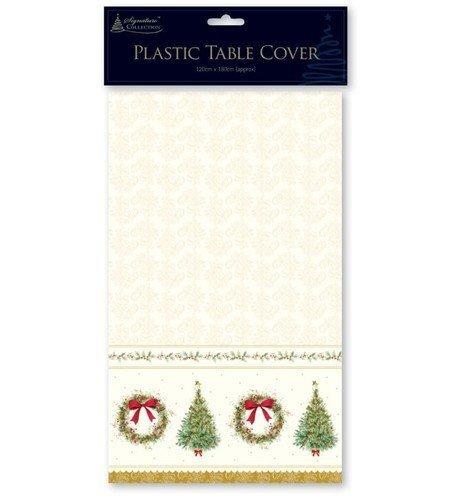 Anker International - 1 x Festliche Saison Weihnachten Wiederverwendbare Plastik Tischdecke