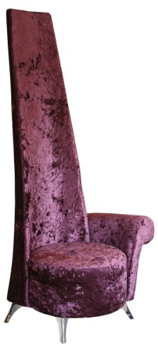 Stickbase Ltd Mulberry Crushed Velvet Potenza Chair/Novelty Chair a Modern Life Style