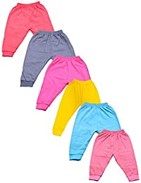 Montu Bunty Wear Baby Track Pant - Dark Color Soft Cotton With Rib Design (Pack of 6)
