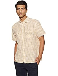 Marks & Spencer Men's Solid Regular Fit Casual Shirt
