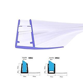 STEIGNER Duschdichtung, 70cm, Glasstärke 6/ 7/ 8 mm, Gebogene PVC Ersatzdichtung für Runddusche, UK02
