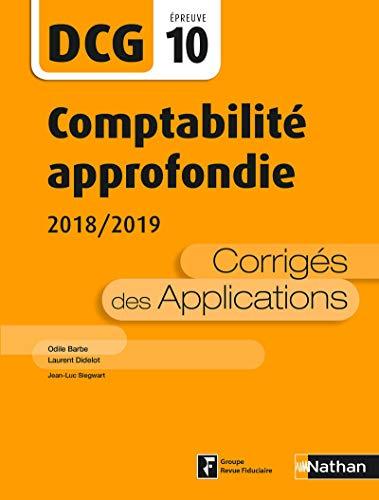 DCG 10 - Comptabilité approfondie - 2018/2019 par Jean-Luc Siegwart