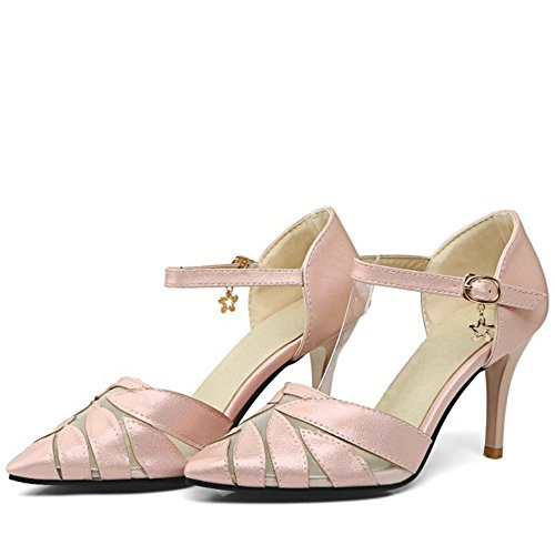 COOLCEPT Femmes Classique Pointue Mince Talon hauts Sandales Soiree Robe Chaussures Rose