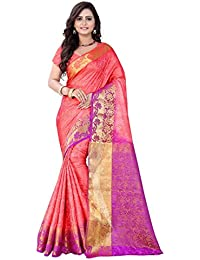 Nirja Creation Peach Color Women's Cotton Silk Saree