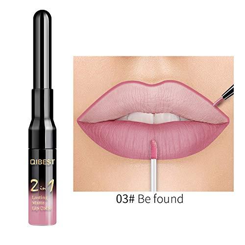 Aktionspreis,Lippenstift,PorLous 2019 Neu Beliebt Schönheit Double-end Dauerhafter Lipliner Wasserdichter Lip Liner Stick Feuchtigkeitsspendend 3