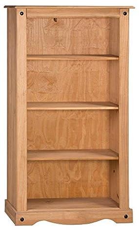 Corona Medium Bookcase - Pine