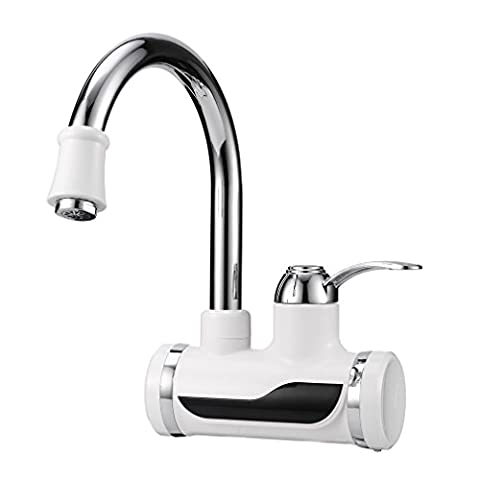 LESHP 220V Instant Electric Water Heater Hot Water Tap Kitchen Boiling Tap Faucet with LED Digital Display for Home