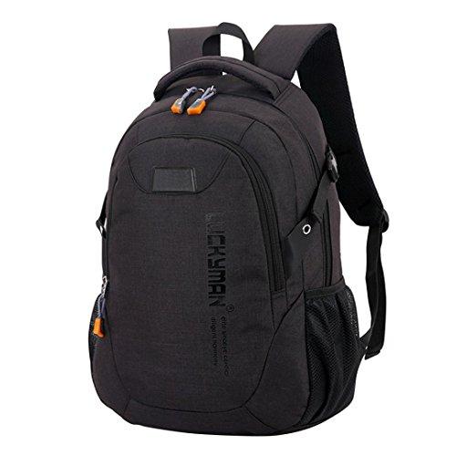 UI Unisex Backpack Kinder-Rucksack Wasserdicht Reiserucksack Outdoor Wanderrucksacke jugendliche mädchen Dakine Rucksack Laptoptaschen (Schwarz) (Notebook-rucksack North Face Rosa)