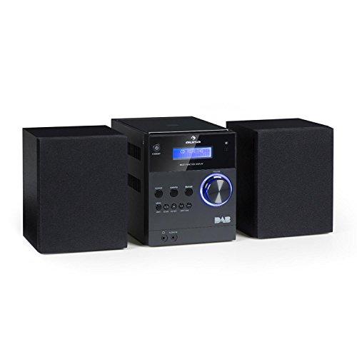 auna MC-20 DAB • Micro-Stereoanlage • Mini-Stereoanlage • HiFi-Stereoanlage • digitaler DAB(+)-Tuner • analoger UKW-PLL-Tuner • Ausgangsleistung: 2X 5 Watt • Bluetooth • LCD-Display • schwarz