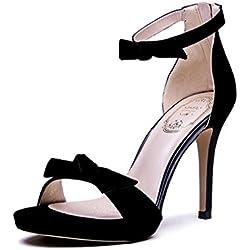 Frühling und Sommer Elegant Toe High Heels Sexy Damen Schuhe Rom ( Farbe : Schwarz , größe : 39 )