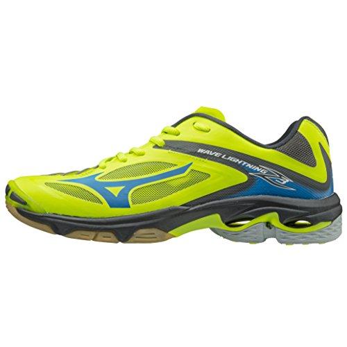 Mizuno Wave Lightning Z3, chaussures de sport homme Multicolore (Safetyyellow/atomicblue/Darkshadow)