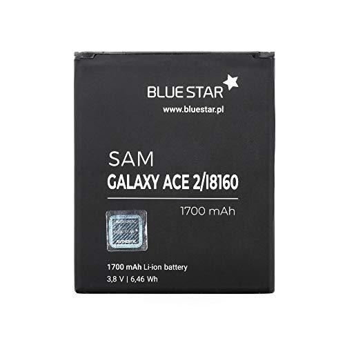 Blue Star - Premium Batterie de Lito-ION avec 1700 mAh Charge Rapide 2.0 Compatible avec Samsung Galaxy Ace 2 i8160 / S7562 Duos