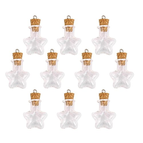 Occasion, Mini Bottles - SODIAL(R) 10 bouteille en verre liege d'occasion  Livré partout en Belgique