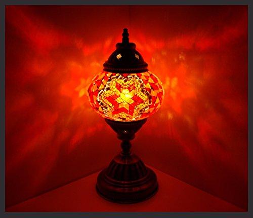 Mosaiklampe Mosaik - Tischlampe M Stehlampe orientalische lampe Orange Samarkand-Lights - Mosaik-tisch-lampe