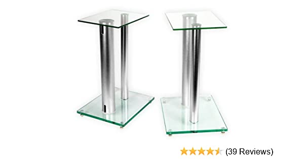 1 Paar Boxenständer V2 ALU-Silber aus Glas: Amazon.de: Elektronik